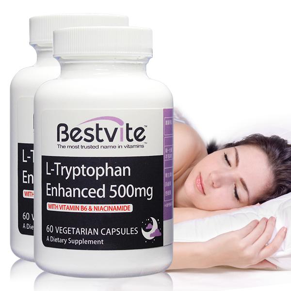 【美國BestVite】必賜力色胺酸加強膠囊2瓶組 (60顆*2瓶) 色胺酸加強,BestVite,必賜力,保健食品