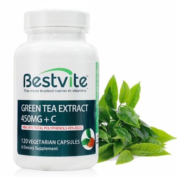 【美國BestVite】必賜力綠茶萃取+維生素C膠囊1瓶 (120顆) 綠茶萃取+維生素C,BestVite,必賜力,保健食品,綠茶,維他命C,維生素C