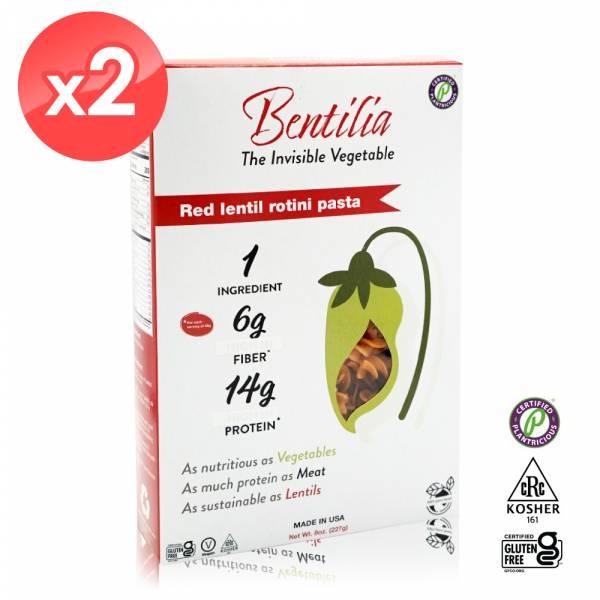 【BENTILIA】美國原裝進口紅扁豆義大利螺旋麵2包 (225公克*2包) BENTILIA,紅扁豆,義大利螺旋麵