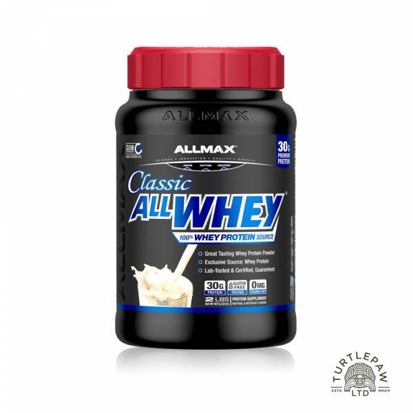 【加拿大ALLMAX】奧美仕ALLWHEY CLASSIC經典乳清蛋白香草口味飲品1瓶 (907公克) 乳清蛋白,ALLMAX,奧美仕,香草