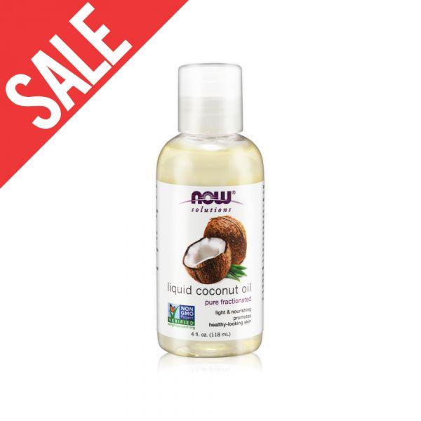 限時【NOW】椰子基底油(4oz/118ml) Liquid Coconut Oil 效期至2020/11/30 now,基底油,基礎油,按摩油,椰子油