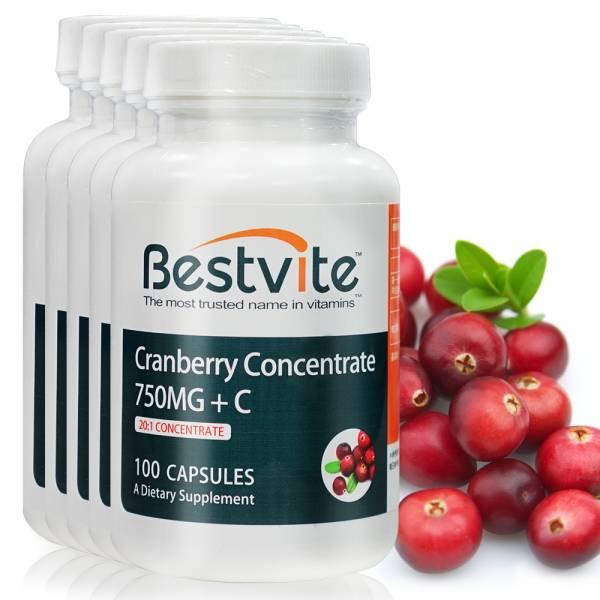 【美國BestVite】必賜力高濃縮蔓越莓膠囊5瓶組 (100顆*5瓶) 蔓越莓,高濃縮蔓越莓,BestVite,必賜力,保健食品