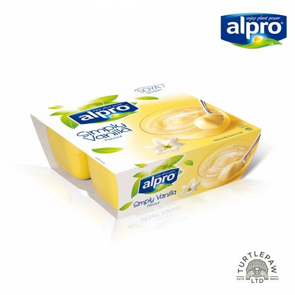 【ALPRO】極致滑順香草風味豆奶酪(125公克*4入) 大豆甜品香草,植物奶,香草,奶酪