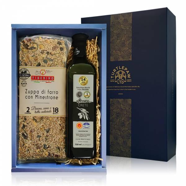 頂級義式料理禮盒-奧莉恩橄欖油.Tiberino義式料理包 禮盒組,橄欖油,Tiberino,義大利麵