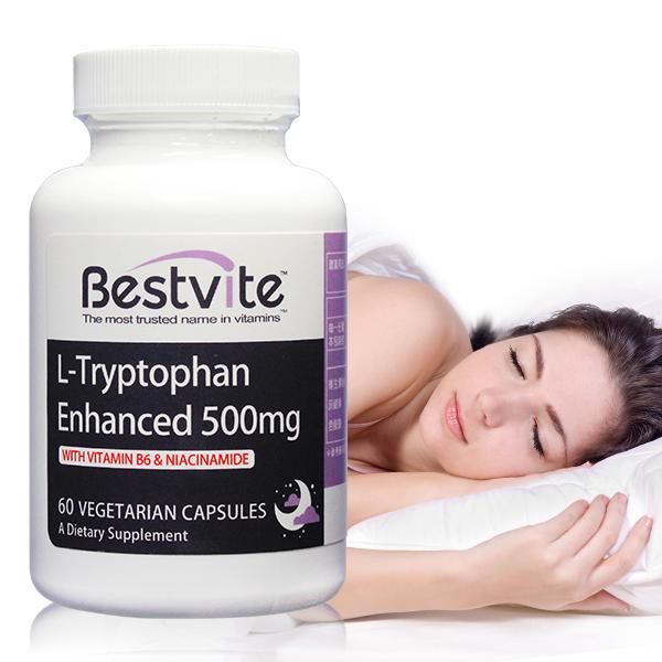【美國BestVite】必賜力色胺酸加強膠囊1瓶 (60顆) 色胺酸加強,BestVite,必賜力,保健食品