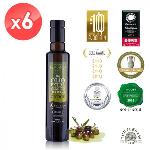 【 義大利Romano】羅蔓諾Ortice特級初榨橄欖油(250ml*6瓶) Romano,羅蔓諾,Ortice,初榨橄欖油,橄欖油,食用油,油