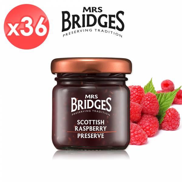 【MRS. BRIDGES】英橋夫人蘇格蘭覆盆莓果醬36入組 (42公克*36入)  MRS. BRIDGES,英橋夫人,蘇格蘭覆盆莓,果醬,覆盆莓