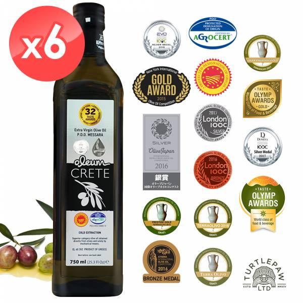 【Oleum Crete】奧莉恩頂級初榨橄欖油(750ml*6瓶) Oleum Crete,奧莉恩,初榨橄欖油,橄欖油,食用油,油
