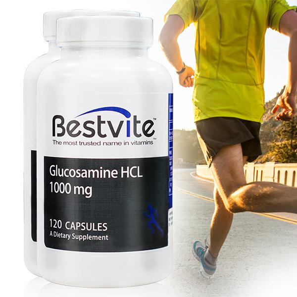 【美國BestVite】必賜力葡萄糖胺膠囊2瓶 (120顆*2瓶) 葡萄糖胺,BestVite,必賜力,保健食品