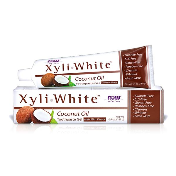 【NOW】XyliWhite™薄荷椰子油牙膏(6.4OZ/181g)  Coconut Oil Toothpaste Gel  now,牙膏,薄荷椰子油,薄荷,椰子油