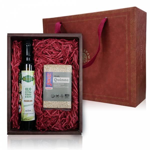 油藜真好禮盒-羅蔓諾欖油.白藜麥 禮盒組,橄欖油,白藜麥