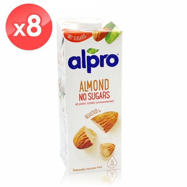 【ALPRO】無糖杏仁飲品(1公升*8瓶組)  無糖,堅果奶,植物奶,飲品,杏仁奶
