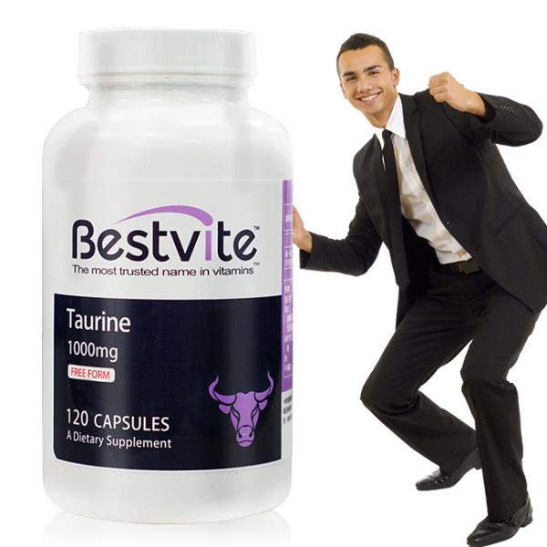 【美國BestVite】必賜力牛磺酸膠囊1瓶 (120顆) 牛磺酸,BestVite,必賜力,保健食品