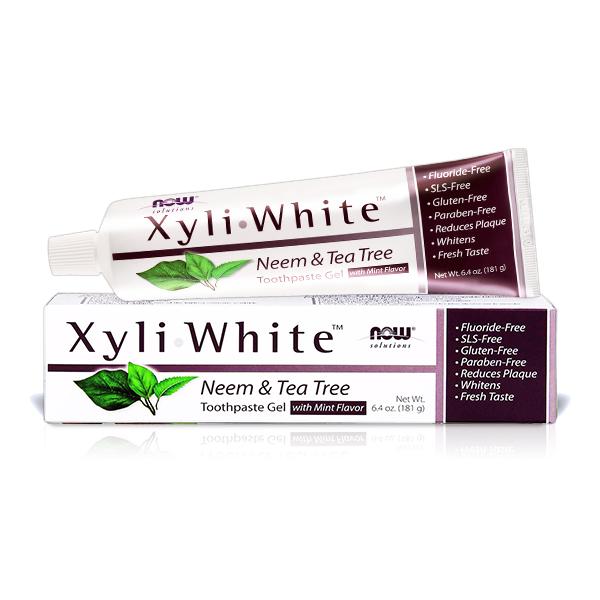 【NOW】XyliWhite™苦楝茶樹牙膏(6.4OZ/181g)  Neem & Tea Tree Toothpaste Gel now,牙膏,苦楝茶樹,茶樹