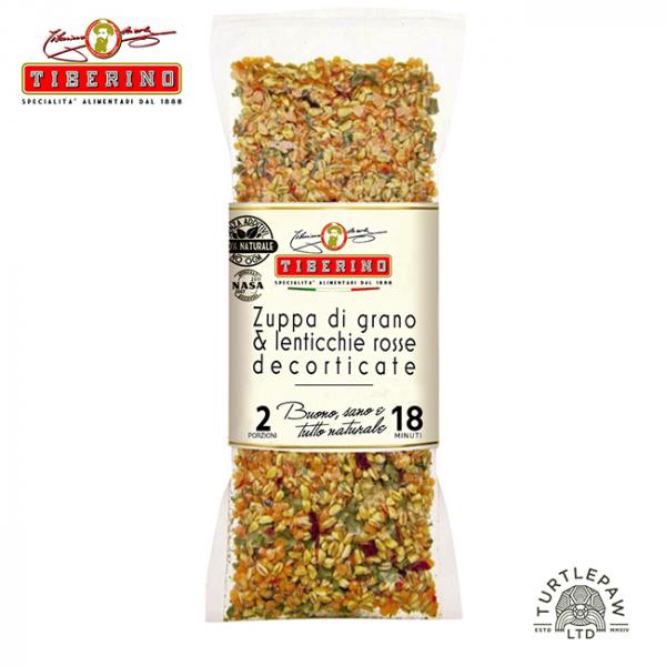 【Tiberino】義大利小麥紅扁豆鮮蔬濃湯(200克) Tiberino,義大利麵,太空包,義大利麵,義式料理,古斯米,古斯米牛肝菌菇菇燉飯,燉飯,牛肝菌