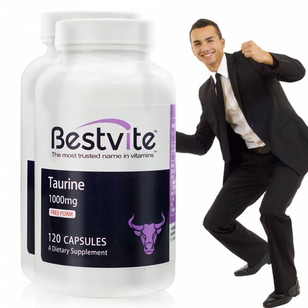 【美國BestVite】必賜力牛磺酸膠囊2瓶組 (120顆*2瓶) 效期至2022/10 牛磺酸,BestVite,必賜力,保健食品