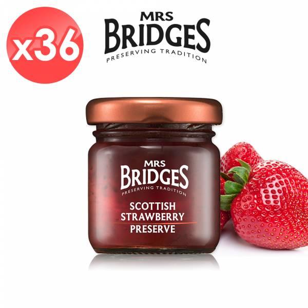 【MRS. BRIDGES】英橋夫人蘇格蘭草莓果醬36入組 (42公克*36入) 效期至2021/12 MRS. BRIDGES,英橋夫人,蘇格蘭草莓,果醬,草莓