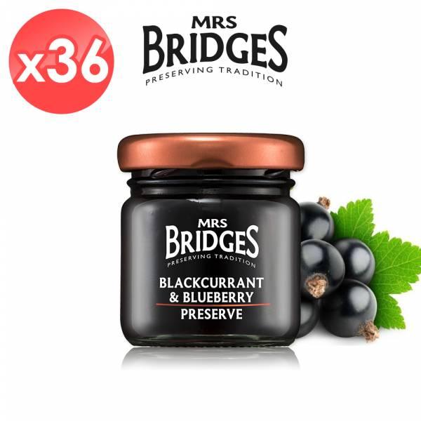 【MRS. BRIDGES】英橋夫人黑加侖藍莓果醬36入組 (42公克*36入)  MRS. BRIDGES,英橋夫人,黑加侖藍莓,果醬