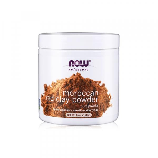 【NOW】摩洛哥紅土泥膜(6oz/170g)Red Clay Powder Moroccan 泥膜,摩洛哥紅土,NOW,保濕
