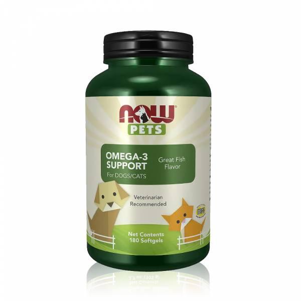 【NOW】寵物OMEGA-3魚油膠囊1瓶(180顆) NOW,寵物食品,OMEGA3,魚油,保健食品