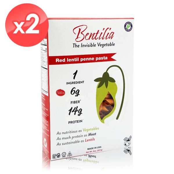 【BENTILIA】美國原裝進口紅扁豆義大利筆管麵2包 (225公克*2包) BENTILIA,紅扁豆,義大利筆管麵