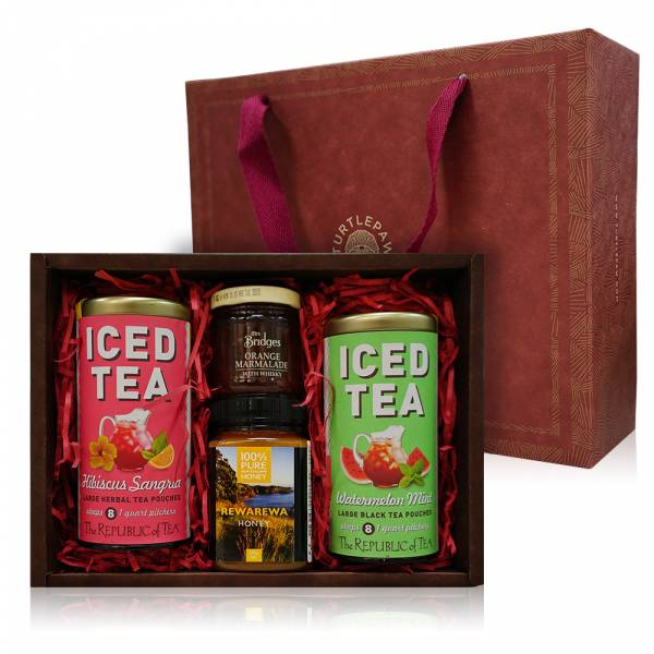 花漾甜蜜禮盒 禮盒組,蜂蜜,茶葉,果醬