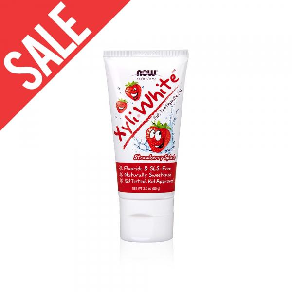 即期【NOW】XyliWhite™木糖醇兒童牙膏(草莓口味) (3oz/85g)Strawberry Splash Toothpaste Gel for Kids 效期至2021/8 now,牙膏,草莓,木糖醇,兒童牙膏