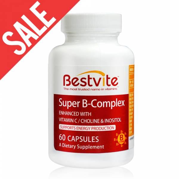 限時【美國BestVite】必賜力超級維他命B群膠囊1瓶 (60顆) 效期2020/10 超級維他命B,BestVite,必賜力,保健食品