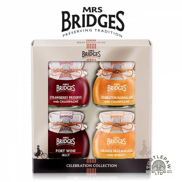 【MRS. BRIDGES】英橋夫人慶典果醬(113g*4)柑橘香檳、草莓香檳、柑橘威士忌、紅葡萄波特酒 MRS. BRIDGES,英橋夫人,慶典,禮盒