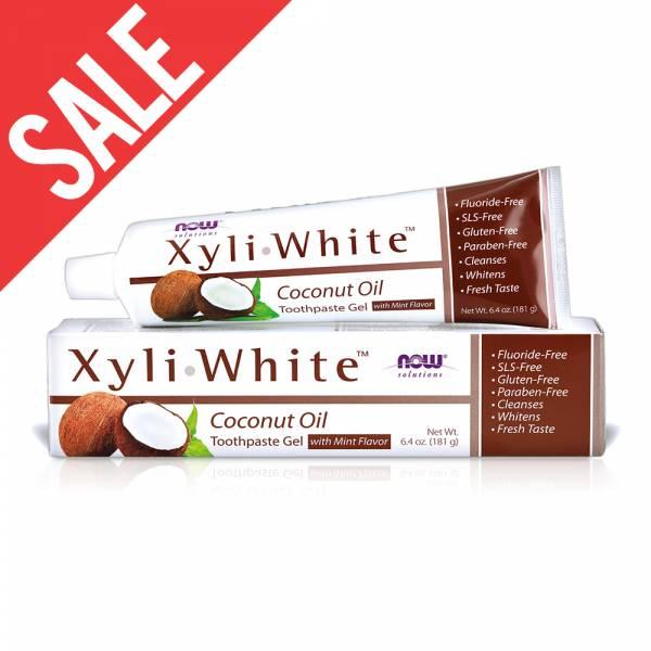 買一送一【NOW】XyliWhite™薄荷椰子油牙膏(6.4OZ/181g) Coconut Oil Toothpaste Gel  now,牙膏,薄荷椰子油,薄荷,椰子油