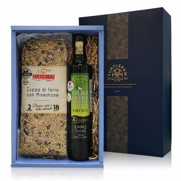 頂級義式料理禮盒-羅蔓諾橄欖油.Tiberino義式料理包 禮盒組,橄欖油,Tiberino,義大利麵