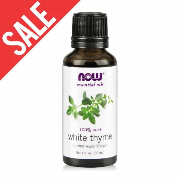 買一送一【NOW】沉香醇百里香精油(30 ml) White Thyme Oil / 純精油 百里香 精油,百里香 功效,提神,保養,放鬆,壓力,按摩,緊張,抗菌,舒緩,now,精油,沉香醇百里香,百里香