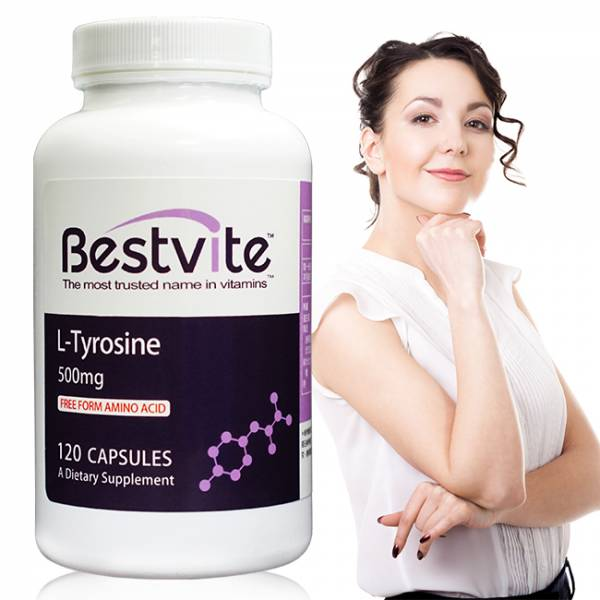 【美國BestVite】必賜力酪胺酸膠囊1瓶 (120顆) 酪胺酸,BestVite,必賜力,保健食品