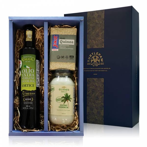 福氣養身禮盒-橄欖油.白藜麥.椰子油 禮盒組,橄欖油,白藜麥,椰子油
