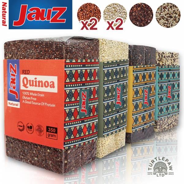【JAUZ喬斯】紅藜麥2包+白藜麥2包+黑藜麥+三色藜麥QUINOA (350公克*6包) JAUZ,喬斯,藜麥,QUINOA,