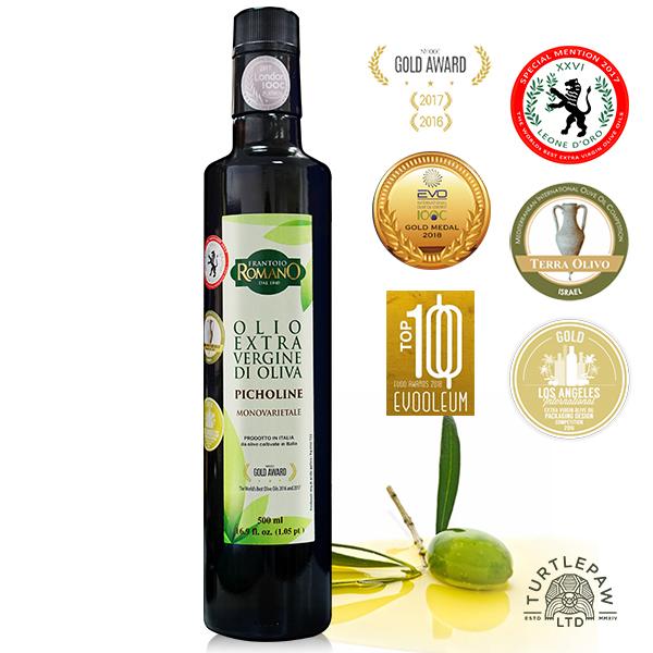 【 義大利Romano】羅蔓諾Picholine特級初榨橄欖油(500ml) Romano,羅蔓諾,Picholine,初榨橄欖油,橄欖油,食用油,油