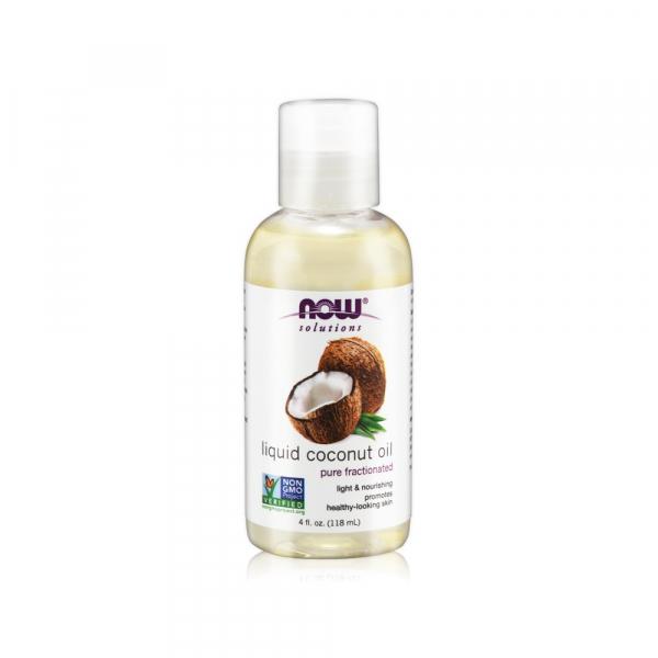 【NOW】椰子基底油(4oz/118ml) Liquid Coconut Oil now,基底油,基礎油,按摩油,椰子油