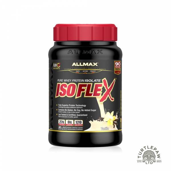 【加拿大ALLMAX】奧美仕ISOFLEX分離乳清1瓶香草口味飲品(907公克) ALLMAX,奧美仕,ISOFLEX,分離乳清,香草,乳清蛋白