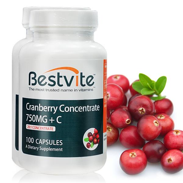 【美國BestVite】必賜力高濃縮蔓越莓膠囊2瓶組 (100顆*2瓶) 蔓越莓,高濃縮蔓越莓,BestVite,必賜力,保健食品