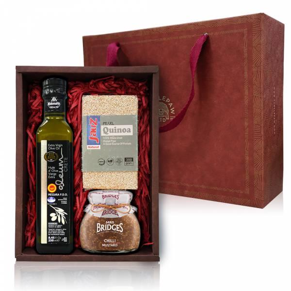 迎春熱銷組-奧莉恩橄欖油.白藜麥.英橋夫人果醬 禮盒組,橄欖油,白藜麥,果醬
