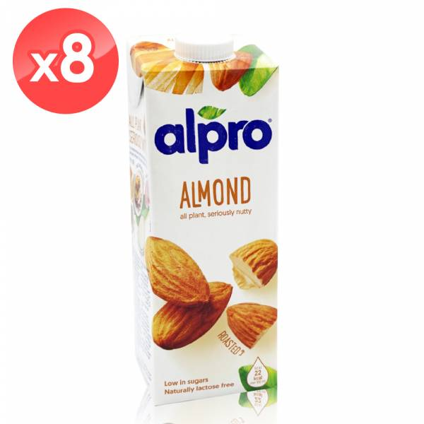 【ALPRO】原味杏仁飲品(1公升*8瓶)  堅果奶,植物奶,飲品,杏仁奶
