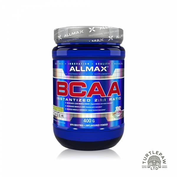 【加拿大Allmax】奧美仕BCAA支鏈胺基酸粉末 (400公克) 支鏈胺基酸,BCAA,ALLMAX,奧美仕,巧克力