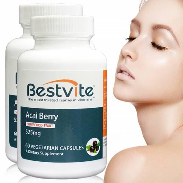 【美國BestVite】必賜力高濃縮巴西莓膠囊2瓶組 (60顆*2瓶) 高濃縮巴西莓,BestVite,必賜力,保健食品