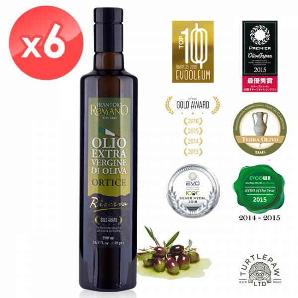 【 義大利Romano】羅蔓諾Ortice特級初榨橄欖油(500ml*6瓶) Romano,羅蔓諾,Ortice,初榨橄欖油,橄欖油,食用油,油