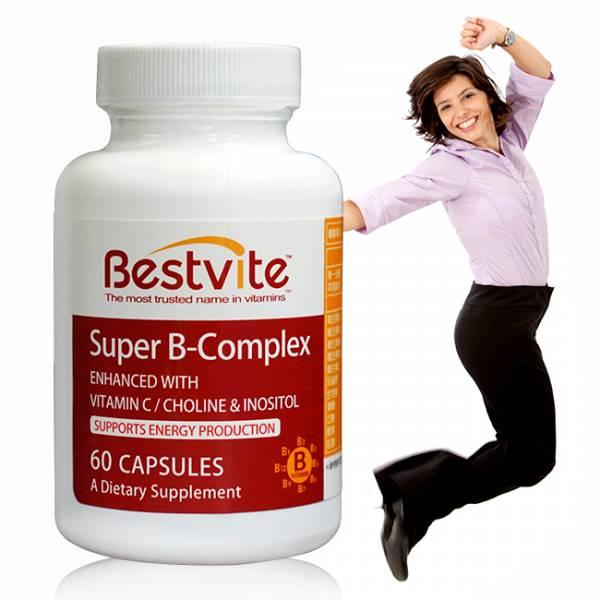 【美國BestVite】必賜力超級維他命B群膠囊1瓶 (60顆) 超級維他命B,BestVite,必賜力,保健食品
