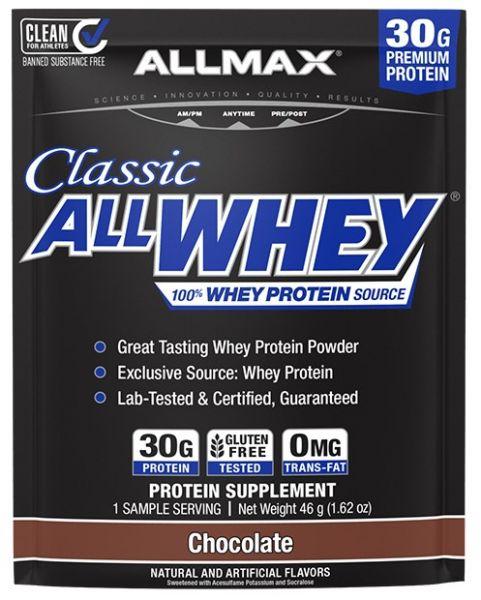 贈品【加拿大ALLMAX】經典乳清蛋白試喝包-巧克力口味(30公克) ALLMAX,奧美仕,ISOFLEX,分離乳清,巧克力,乳清蛋白