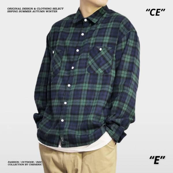 【英倫格紋襯衫】薄款春季紳士藍綠 英倫風,法蘭絨,襯衫,cityboy,cheneric,esc select,hy select,goopi,jks