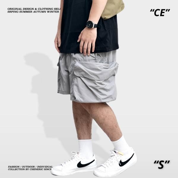 【抗撕裂側口袋短褲】磁吸快乾寬鬆 淺灰 工裝,軍裝,尼龍,快乾,短褲,機能,outdoor,cheneric,esc select,hy select,goopi,jks