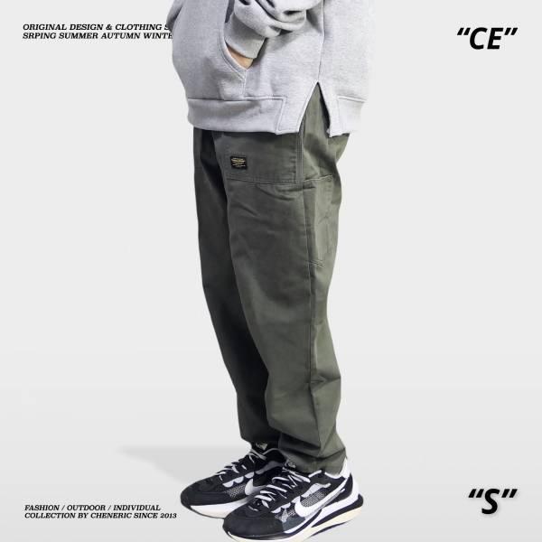 【小直筒錐形工作褲】上寬下窄 灰綠 錐形,上寬下窄,工作褲,cheneric,esc select,hy select,goopi,jks