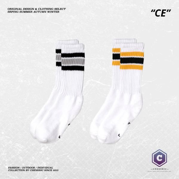【針織條紋中筒襪】 堆疊毛巾底襪襪子 中筒襪,長筒襪,純棉,襪子,透氣,毛巾底,Socks